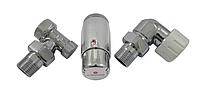 Кран для радиатора отопления Schlosser комплект радиаторный осевой-левый, хром, DN15 GZ 1/2xGW1/2