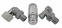 Кран для радиатора отопления Schlosser комплект радиаторный осевой-правый, хром, DN15 GZ 1/2xGW1/2