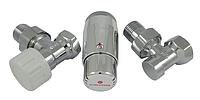 Кран для радиатора отопления Schlosser комплект радиаторный угловой, хром, DN15 GZ 1/2 x GW 1/2