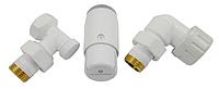 Кран для радиатора отопления Schlosser комплект радиаторный осевой-левый, белый, DN15 GZ 1/2xGW 1/2