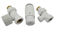 Кран для радиатора отопления Schlosser комплект радиаторный прямой, белый, DN15 GZ 1/2 x GW 1/2