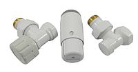 Кран для радиатора отопления Schlosser комплект радиаторный угловой, белый, DN15 GZ 1/2 x GW 1/2