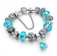 Женский браслет Sharm Christal в стиле PANDORA - Blue