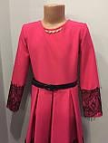 Платье для девочки с кружевом 140,146,152 см, фото 2