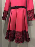 Платье для девочки с кружевом 140,146,152 см, фото 3