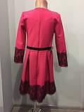 Платье для девочки с кружевом 140,146,152 см, фото 4