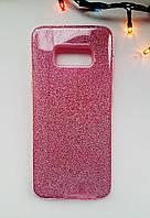 Чехол силиконовый с блестками Samsung S8