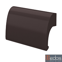 Ручка балконная DE LUXE коричневый (RAL 8019) (Польша)