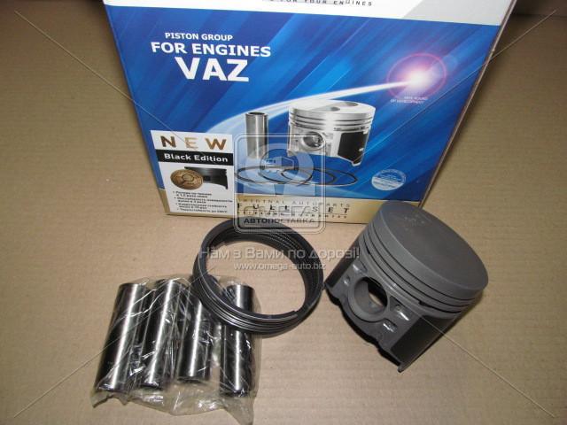 Поршень цилиндра ВАЗ 2101,2103 d=76,4 гр.B М/К (Black Edition/EXPERT+п.п+п.кольца) (МД Кострома) (арт. 2101-1004018-АР), AGHZX