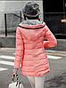 Красная зимняя удлиненная куртка пуховик, фото 3