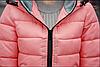 Красная зимняя удлиненная куртка пуховик, фото 6