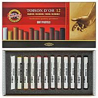 Мел-пастель Koh-i-Noor T D'OR 12 шт коричневые оттенки, 8522012002BR