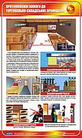 Стенд. Протипожежні вимоги до торгово-складських приміщень. 0,6х1,0. Пластик