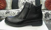 Туфли мужские, натуральная кожа, внутри - войлок; на 2 змейки