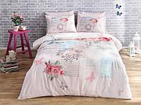 Постельное белье ранфорс Tac Selena V05 розовый