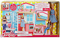 Двухэтажный домик для Барби с куклой Barbie 2 story house and doll DVV48