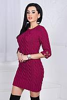 Женское короткое вязаное платье №85-3210