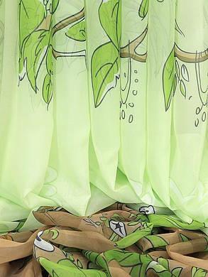 """Готовая тюль-вуаль печать """"Африка""""(для детской) 3м (зеленый фон), фото 2"""