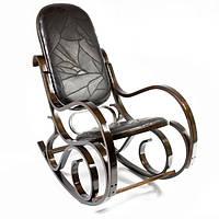 Кресло-качалка EKO-кожа темно-ореховое