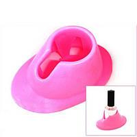 Подставка-держатель для лака розовая