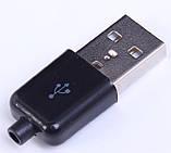 USB разъем штекер папа в разборном корпусе 4pin, фото 2