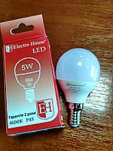 Лампа Electro House світлодіодна 5W 450Lm Е14 куля