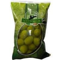 Зелёные оливки. Чистый вес - 500г. Италия Вікторія