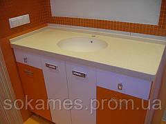 Столешница для ванной комнаты из искусственного камня LG HI-MACS.