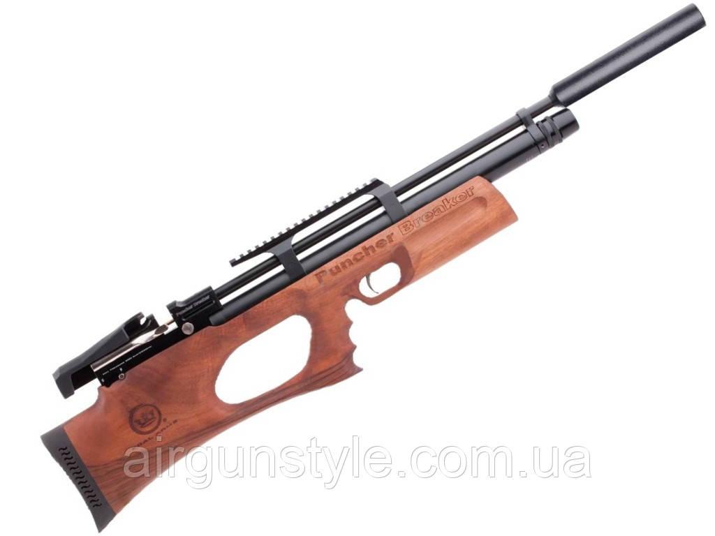 Винтовка пневматическая Kral Puncher Breaker WS PCP Wood с глушителем