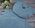 Матрас и подушка в коляску, цвет- голубой, фото 4