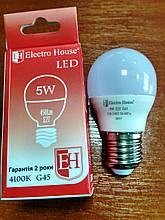 Лампа Electro House світлодіодна 5W 450Lm Е27 куля