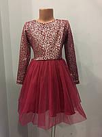 Платье с юбкой из фатина для девочки 110-128 см, фото 1