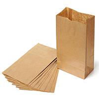 Бумажный крафт пакет бурый 330х160х350 мм, упаковка