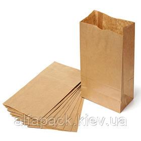 Бумажный крафт пакет бурый 120х85х250 мм