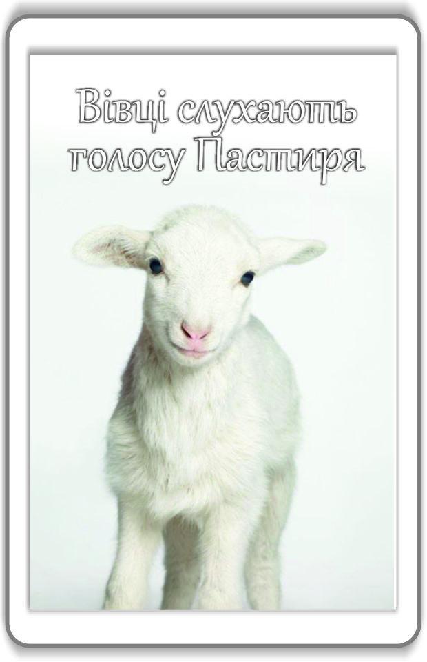 Магніт: Вівці слухають голосу Пастиря 7х4,5см #90