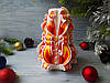Резная свеча оранжево-белая без декора