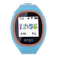 Смарт часы Ergo Junior Color J010 з GPS трекером голубий