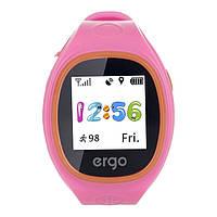 Смарт часы Ergo Junior Color J010 з GPS трекером Pink