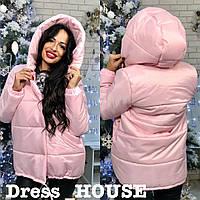 Женская зимняя теплая куртка зефирка,разные цвета.