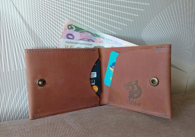 """Чоловічий гаманець """"BOZ"""" ручної роботи"""
