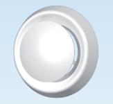 Анемостат приточно-вытяжной регулируемый с фланцем АБС D100