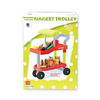 Тележка детская игровая для продуктов супермаркет,коробка 37-52-15,5 см,889-16A-15A