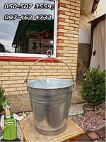 Оцинкованное ведро для колодца на 10 литров, окованное нержавейкой