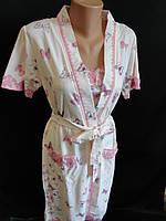 Женские наборы халат с ночнушкой.