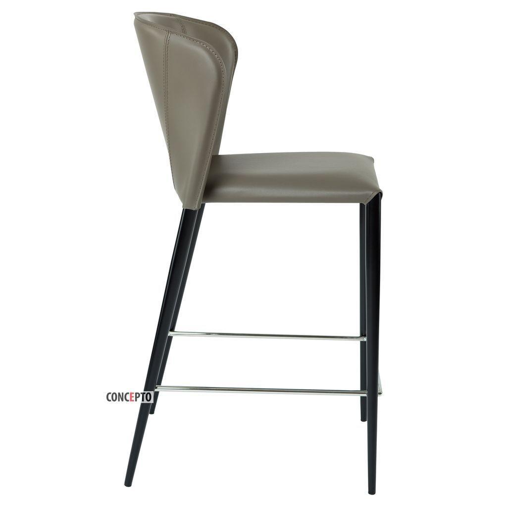 Arthur (Артур) Concepto барный стул кожаный пепельно-серый
