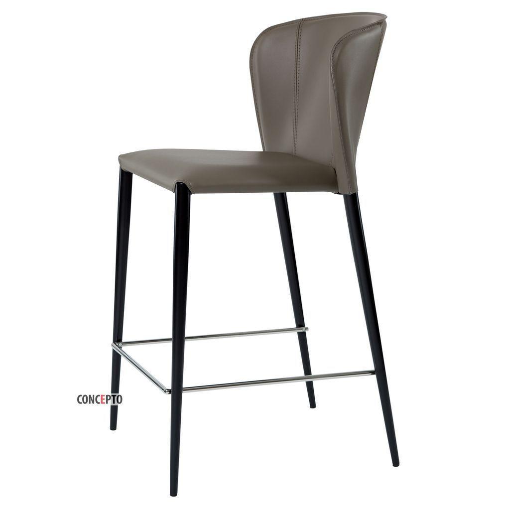 Arthur (Артур) Concepto полубарный стул кожаный пепельно-серый