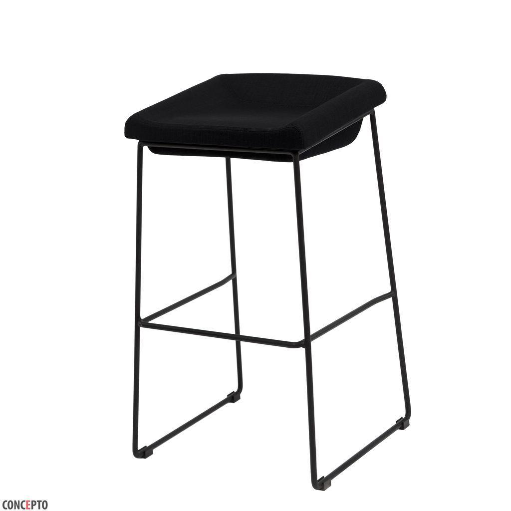 Coin (Коин) Concepto барный стул мягкий чёрный