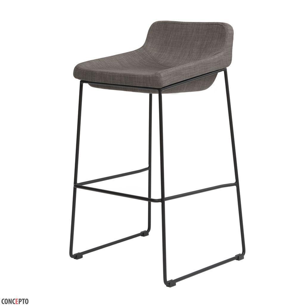 Comfy (Комфи) Concepto барный стул мягкий серый
