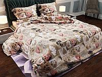 Комплект постельного белья евро ранфорс 100% хлопок. Постільна білизна. (арт.7612)