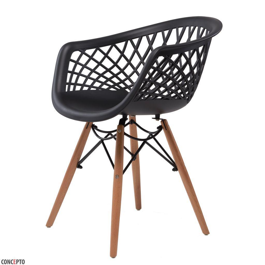 Lace (Лэйс) Concepto кресло пластиковое чёрное